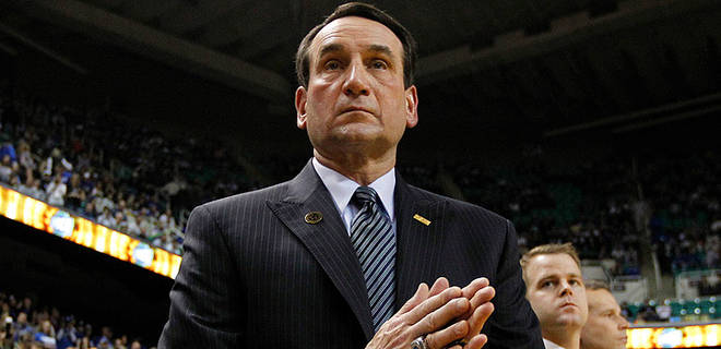Coach K joined Coach Cut on a very special David Glenn Show  (AP Photo)