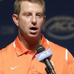 Dabo Swinney and Clemson welcome one of the top recruiting classes in the ACC this year. (AP photo)