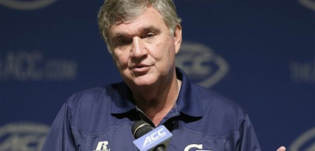 After signing a large recruiting class in 2015, Paul Johnson and Georgia Tech took a smaller group this year. (AP Photo/Gerry Broome)
