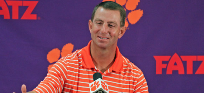 Dabo Swinney has another stellar set for 2017. (AP Photo)