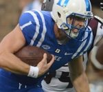 Quarterback Thomas Sirk, despite rupturing his Achilles tendon in February, is at the top of Duke's depth chart. (AP photo).
