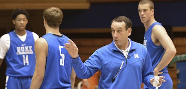 Duke's Mike Kryzewski has his first commit of the 2017 recruiting cycle. (AP photo)