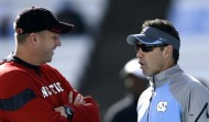 Dave Doeren and Larry Fedora are not having as much success as last year courting the top in-state recruits (AP Photo)