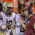 Florida State quarterback Sean Maguire (left) was part of Jimbo Fisher's 2012 signing class. (AP Photo)