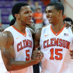 Jaron Blossomgame (left) and Donte Grantham (right) return to a talented Clemson squad this season. (AP Photo)