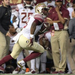 Florida State wide receiver Kermit Whitfield made the coaches' All-ACC third team as a specialist. (AP Photo)