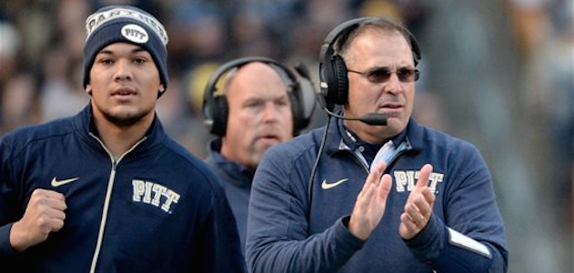 Pat Narduzzi (right) and his staff picked up commitments from two tight ends on Thursday. (AP Photo)