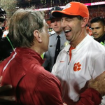 The ACC received a $6 million payout as Dabo Swinney (right) guided Clemson to the College Football Playoff. (AP Photo)