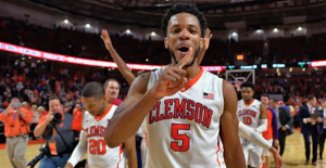 Jaron Blossomgame could be the best player in the ACC this season. (AP Photo).
