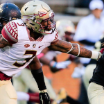 Florida State safety Derwin James (left) earned third-team All-ACC honors as a freshman. (Courtesy: Florida State Athletics)