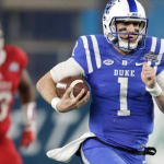 Duke quarterback Thomas Sirk (1) suffered an Achilles injury on Tuesday morning. (AP Photo)