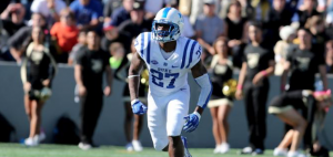 Duke safety DeVon Edwards, who led the ACC in kickoff return average this past season, is among the headliners on the 2015 All-ACC Academic Football Team. (AP Photo)