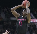 North Carolina State's Abdul-Malik Abu (0) will declare for the NBA Draft but will not hire an agent. (AP Photo/Robert Franklin)