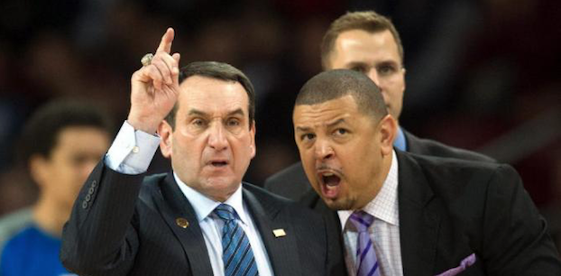 Jeff Capel (right) joined Duke's coaching staff in 2011. (AP Photo)