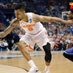 Michael Gbinije and Syracuse will face Gonzaga at 9:40 p.m. ET on Friday. (AP Photo)