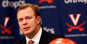 Virginia coach Bronco Mendenhall is having to deal with several injuries on his roster. (AP Photo)