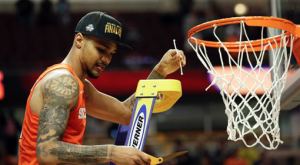 Michael Gbinije and Syracuse are hoping to cut down the nets in Houston. (AP Photo)
