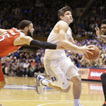 Duke guard Grayson Allen underwent hernia surgery on Friday, the school announced. (AP Photo)