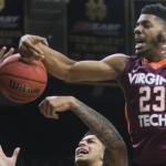 Jalen Hudson (right) is reportedly leaving Virginia Tech's basketball program. (AP Photo)