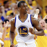 Harrison Barnes and the Golden State Warriors are searching for their second consecutive NBA championship. (AP Photo)