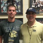 Class of 2017 tight end Kyle Nunn (left) committed to Pitt on Saturday. (Source: Twitter account @knunn19)