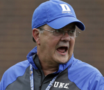 Duke football coach David Cutcliffe recruiting
