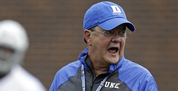 Duke football coach David Cutcliffe recruiting