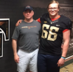 Class of 2017 offensive lineman Allan Rappleyea (right) committed to Wake Forest on Saturday. (Source: Twitter account @allanrapp66)