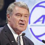 ACC commissioner John Swofford spoke to the ACC Digital Network about North Carolina's House Bill 2 and how it could affect conference championship host sites. (AP Photo)