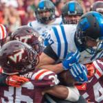Virginia Tech sophomore Adonis Alexander (36) is one of two Hokies players suspended indefinitely. (AP Photo)