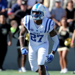 Duke cornerback DeVon Edwards is among the fastest players on the team. (AP Photo)
