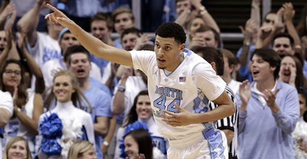 North Carolina sophomore Justin Jackson is among the 12 ACC players attending this year's NBA Draft Combine. (AP Photo)