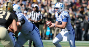 Duke quarterback Parker Boehme has logged one career start. (AP Photo)