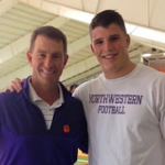 Class of 2017 defensive end Logan Rudolph (right) committed to Clemson on Friday. (Source: Twitter account @Logan4Rudolph)