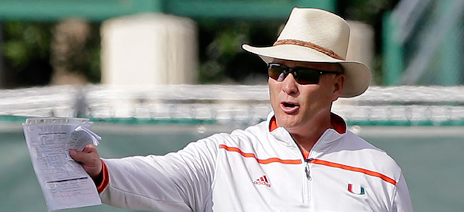 Miami head coach Mark Richt has good odds of landing two defensive backs from Florida. (AP Photo)