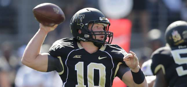 Wake Forest quarterback John Wolford started 10 games for the Demon Deacons last season. (AP Photo)