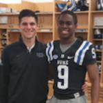 Class of 2017 athlete Joshua Blackwell (right) committed to Duke on Sunday. (Source: Twitter account @JoshuaBlackwe12)