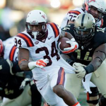 Virginia Tech running back Travon McMillian rushed for 1,043 yards in 2015. (AP Photo)