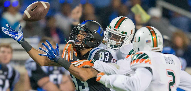 Duke receiver Anthony Nash (83) started nine games in 2015. (AP Photo)