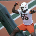 Shaq Quarterman's play in the spring earned him a spot on Miami's first-team defense. (AP Photo)