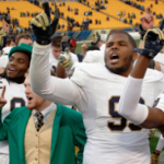It's big business for secondary ticket markets when Notre Dame travels in football. (AP Photo).
