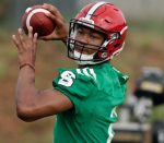 Jalan McClendon (right) is competing for NC State's starting quarterback job. (AP Photo)