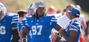 Duke defensive tackle Quaven Ferguson underwent arthroscopic knee surgery in July. (Photo by Duke Photography)