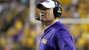 Is a stop in the ACC what's next for Les Miles now that his time at LSU is up? (AP Photo)