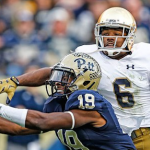 Dontez Ford hauled in two passes for 58 yards last season against Notre Dame. (AP Photo).