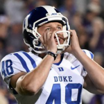 Duke kicker A.J. Reed missed a 34-yard field-goal attempt against Northwestern. (AP Photo)