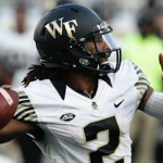Wake Forest quarterback Kendall Hinton will miss 2-4 weeks with a sprained PCL. (AP Photo)