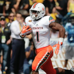 Miami running back Mark Walton is second in the ACC in rushing touchdowns with seven. (AP Photo)
