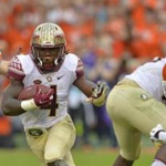 Dalvin Cook's yards per carry and highlight yards are way down from a season ago. (AP Photo).