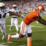 Trevion Thompson caught one ball for 25 yards from Deshaun Watason against Georgia Tech. (AP Photo),